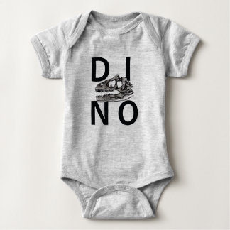 Body Para Bebê DINO - Bodysuit cinzento do jérsei do bebê da urze