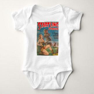 Body Para Bebê Dinossauro com uma língua longa