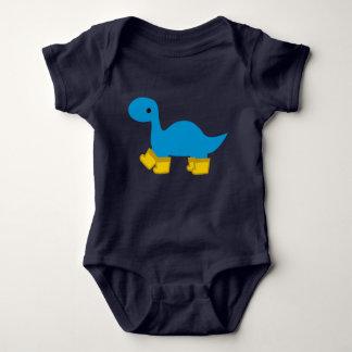 Body Para Bebê Dinossauro do Brontosaurus e bebê azuis Dino de