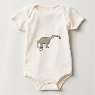 Body Para Bebê Dinossauro do Brontosaurus que olha abaixo da mono
