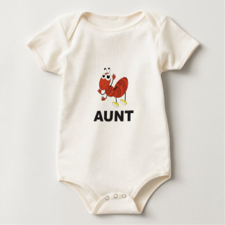 Body Para Bebê divertimento da formiga da tia