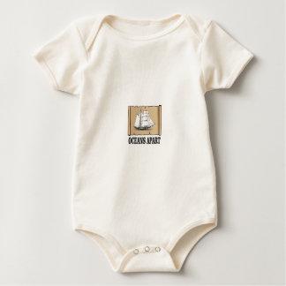 Body Para Bebê divertimento separado dos oceanos