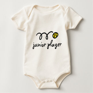 Body Para Bebê Dizer do equipamento do bebê do tênis: jogador