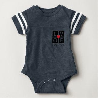 Body Para Bebê Do amor impressão do t-shirt para sempre
