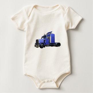 Body Para Bebê Do azul caminhão metálico semi na opinião dos três