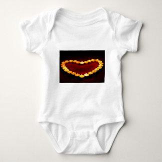 Body Para Bebê Do coração da chama do amor dos namorados velas do