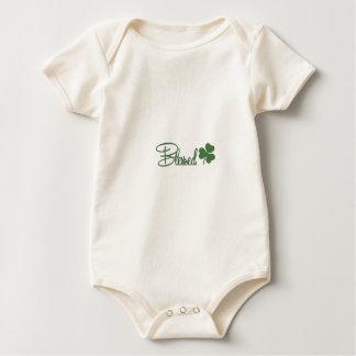 Body Para Bebê ☘ do design do dia de St Patrick abençoado