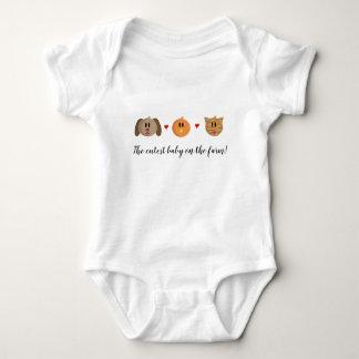 """Body Para Bebê Do """"ligação em ponte de bebê do gato do pintinho"""