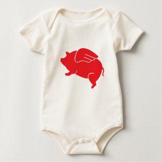 Body Para Bebê 🐷 do porco do vôo