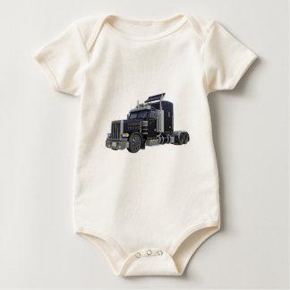 Body Para Bebê Do preto caminhão semi com luzes sobre em uns três