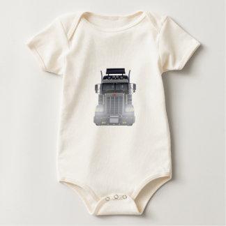 Body Para Bebê Do preto caminhão semi com luzes sobre na vista