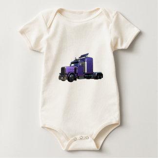 Body Para Bebê Do roxo caminhão metálico semi na opinião dos três