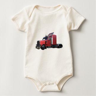 Body Para Bebê Do vermelho opinião metálica dos três quartos de