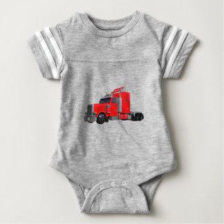 Body Para Bebê Do vermelho reboque de Tracter semi