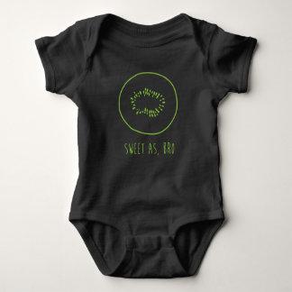 """Body Para Bebê """"Doce como, quivi de Bro"""" Nova Zelândia"""
