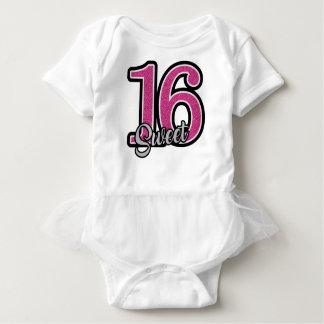 Body Para Bebê Doce cor-de-rosa dezesseis