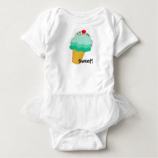 Body Para Bebê Doce! Tutu do bebê do cone do sorvete