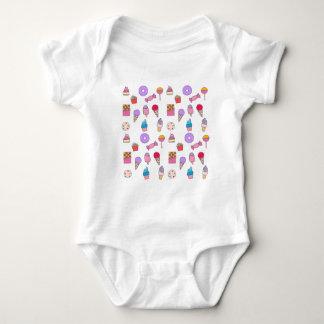 Body Para Bebê Doces, doces e bolo