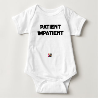 Body Para Bebê DOENTE IMPACIENTE - Jogos de palavras - François