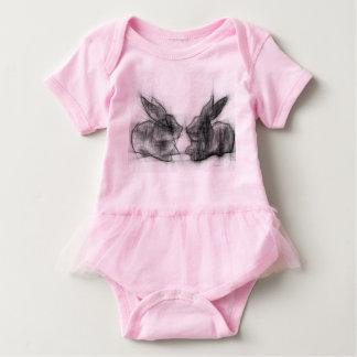 Body Para Bebê Dois coelhos