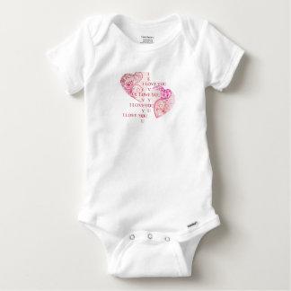 Body Para Bebê Dois corações - eu te amo