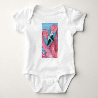 Body Para Bebê Dois flamingos