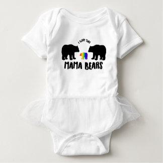 Body Para Bebê Dois Mama Carregamento Tutu Pingamento