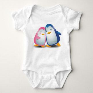 Body Para Bebê Dois pinguins