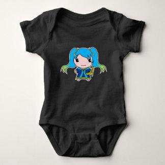 Body Para Bebê Donzela de cabelo azul com instrumento amarrado