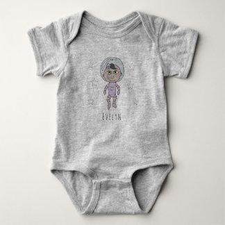 Body Para Bebê Doodle e nome feministas do sonho do astronauta do