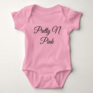Body Para Bebê Dorminhoco cor-de-rosa bonito