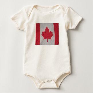 Body Para Bebê Dorminhoco do bebê da bandeira de Canadá