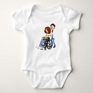 Body Para Bebê Doutor Wheeling Paciente Cadeira de rodas dos