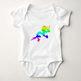 Body Para Bebê dragão do arco-íris