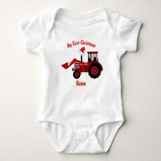 Body Para Bebê DRAGÃO VERMELHO personalizado primeiro Natal da