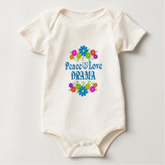 Body Para Bebê Drama do amor da paz