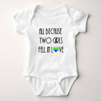 Body Para Bebê Duas meninas caíram no amor
