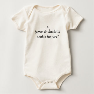 Body Para Bebê Dupla característica de A (nomes dos pais aqui)