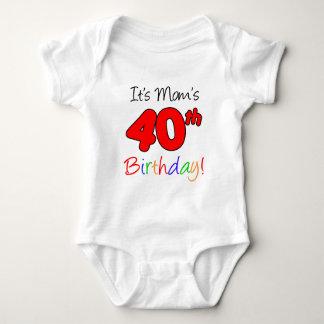 Body Para Bebê É aniversário de 40 anos da mãe