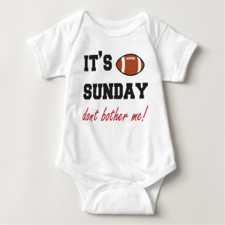 Body Para Bebê É domingo não me incomoda! bodysuit do bebê