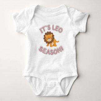 Body Para Bebê É estação de Leo! Bodysuit do bebê (rosa)