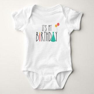 Body Para Bebê É meu Bodysuit do bebê do aniversário