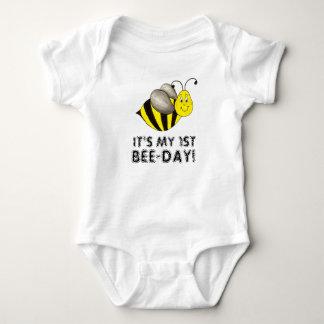 Body Para Bebê É meu primeiro aniversário do ø zangão do dia da