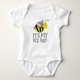Body Para Bebê É meu zangão do aniversário de Abelha-Dia Bumble a