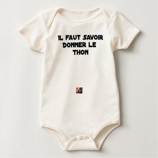 Body Para Bebê É NECESSÁRIO SABER DAR o ATUM - Jogos de palavras