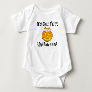 Body Para Bebê É nossos primeiros gêmeos do Dia das Bruxas no