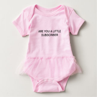 Body Para Bebê É você um subscritor pequeno