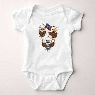 Body Para Bebê Eagles de marcha