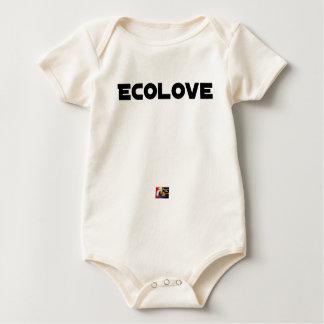 Body Para Bebê ECOLOVE - Jogos de palavras - François Cidade