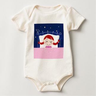 Body Para Bebê Edição dos desenhistas com a menina de sono bonito